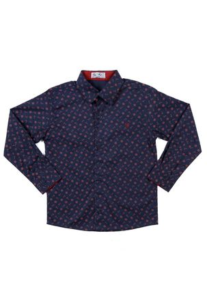 Camisa-Manga-Longa-Infantil-Para-Menino---Azul-Marinho