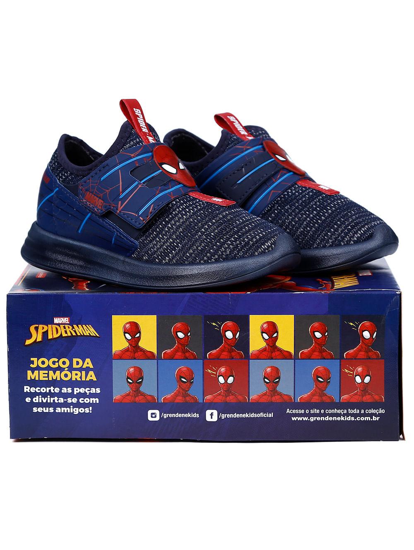 1c9f927091 Tênis Homem Aranha Infantil Para Menino - Azul vermelho - Lojas Pompeia