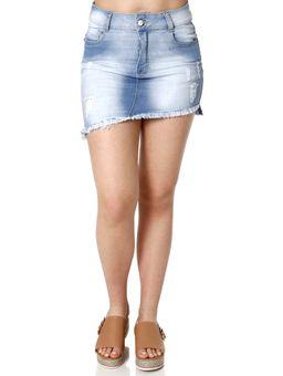 Saia-Curta-Jeans-Feminina-Amuage-Azul