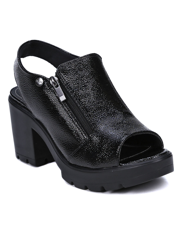 77cc0a4b4 Sandália de Salto Feminina Quiz Preto - Lojas Pompeia
