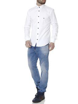 Camisa-Skinny-Manga-Longa-Masculina-Branco