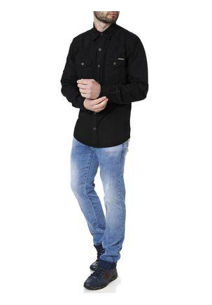 Camisa-Sarja-Manga-Longa-Masculina-Preto-M