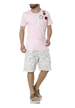 Camiseta-Manga-Curta-Alongada-Masculina-Federal-Art-Rosa