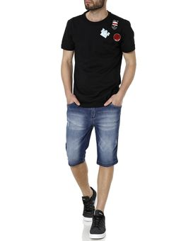 Camiseta-Manga-Curta-Alongada-Masculina-Federal-Art-Preto