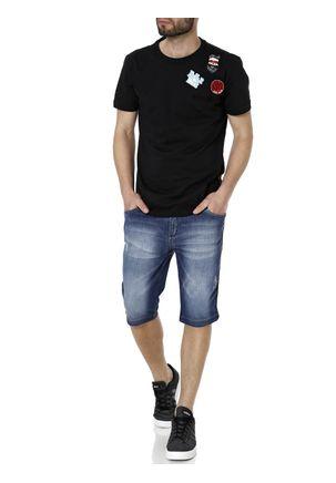 Camiseta-Manga-Curta-Alongada-Masculina-Federal-Art-Preto
