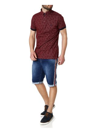 Polo-Manga-Curta-Masculina-Bordo