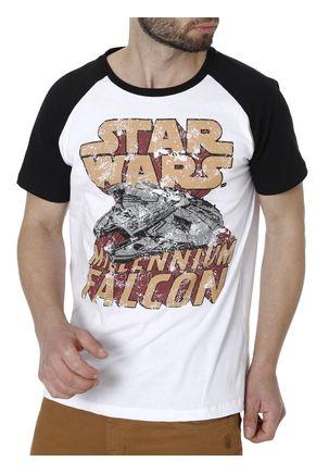 Camiseta-Manga-Curta-Masculina-Star-Wars-Branco-P
