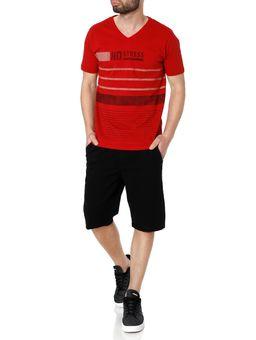 Camiseta-Manga-Curta-Masculina-No-Stress-Vermelho