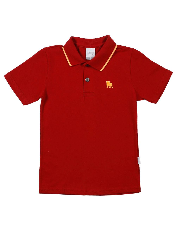 eefd4833fc278 Polo Manga Curta Infantil Para Menino - Vermelho - Lojas Pompeia