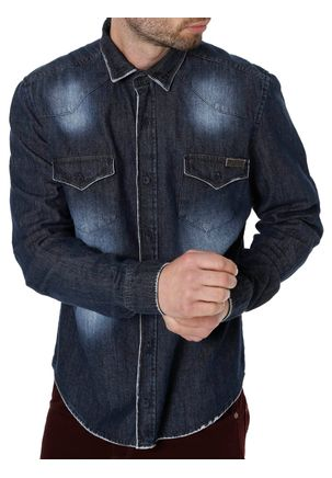 Camisa-Jeans-Manga-Longa-Masculina-Bivik-Preto