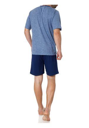 Pijama-Curto-Masculino-Azul-M
