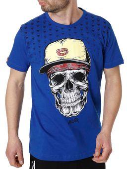 Camiseta-Manga-Curta-Gangster-Azul