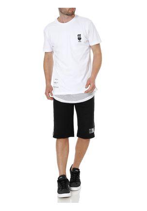Camiseta-Manga-Curta-Masculina-Federal-Art-Branco