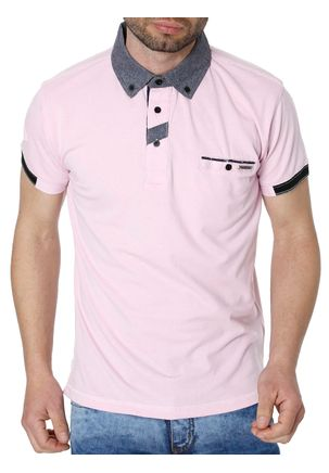 Polo-Manga-Curta-Masculina-Federal-Art-Rosa-M