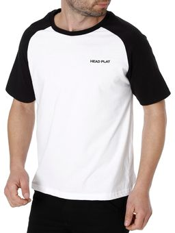 Camiseta-Manga-Curta-Masculina-Branco-preto-P