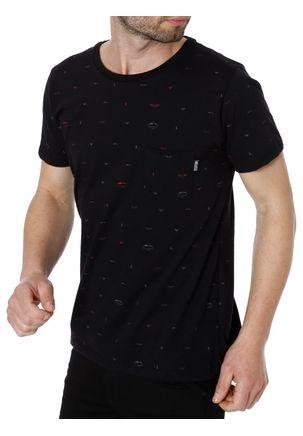 Camiseta-Manga-Curta-Masculina-No-Stress-Preto-P