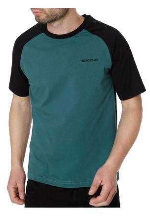 Camiseta-Manga-Curta-Head-Play-Verde-preto