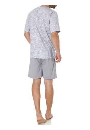 Pijama-Curto-Masculino-Cinza-M