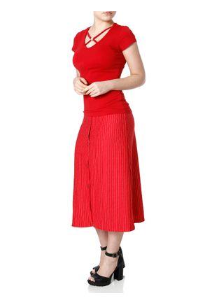 Blusa-Manga-Curta-Feminina-Vermelho
