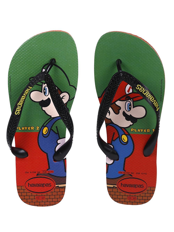 new styles 7d0b8 cfb4c Chinelo Masculino Havaianas Mario Bros Vermelho/verde