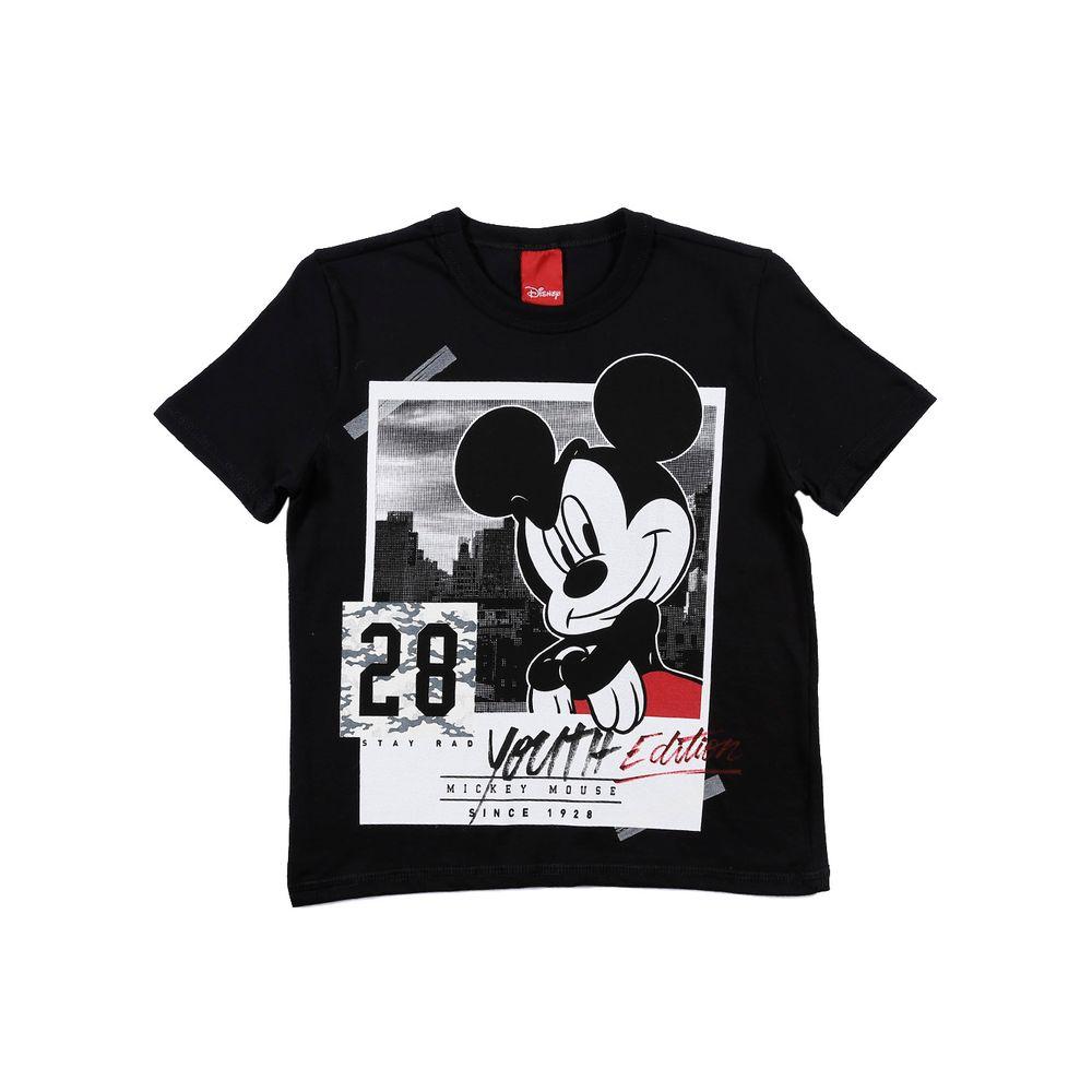 Camiseta Manga Curta Disney Infantil Para Menino - Preto - Lojas Pompeia 3c9cdafb246f8