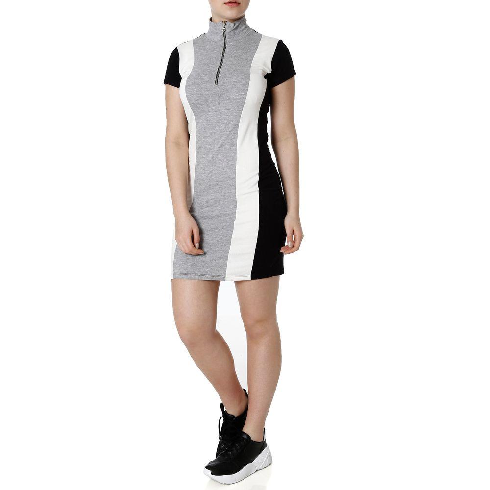 f0759606b5 Vestido Feminino Autentique Off White cinza - Lojas Pompeia