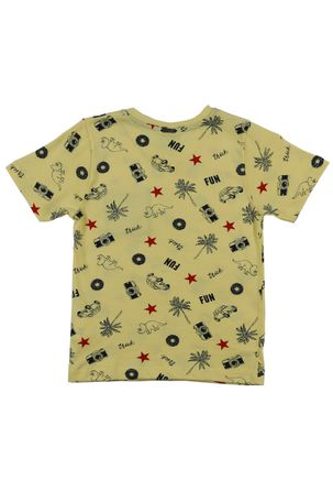 Camiseta-Manga-Curta-Infantil-Para-Menino---Amarelo-6