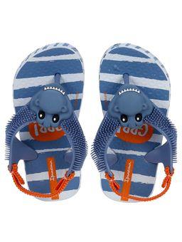 Sandalia-Ipanema-Infantil-Para-Bebe-Menino---Azul-laranja