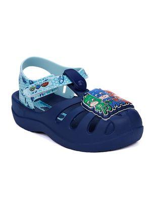Sandalia-Infantil-Para-Bebe-Menino---Azul-verde