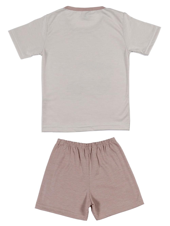 ecd392194a88aa Pijama Curto Infantil Para Menino - Bege/caramelo