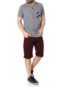Camiseta-Manga-Curta-Masculina-Vels-Cinza-Claro
