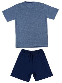 Pijama-Curto-Juvenil-Para-Menino---Azul