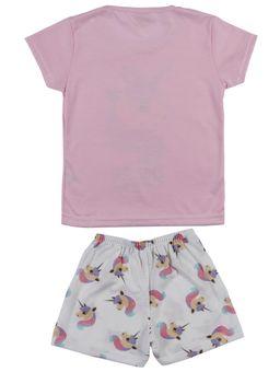 Pijama-Curto-Infantil-Para-Menina---Rosa-off-White-1