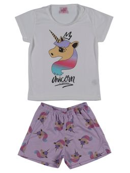 Pijama-Curto-Infantil-Para-Menina---Off-White-lilas-1