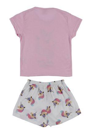 Pijama-Curto-Infantil-Para-Menina---Rosa-off-White-6