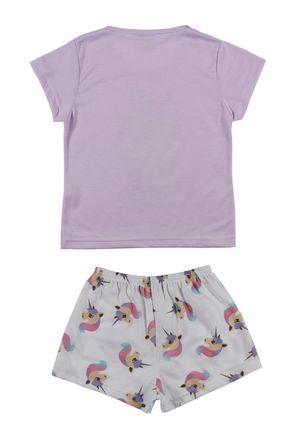 Pijama-Curto-Infantil-Para-Menina---Lilas-off-White-6