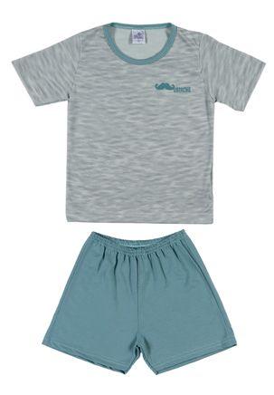 Pijama-Curto-Infantil-Para-Menino---Verde-6