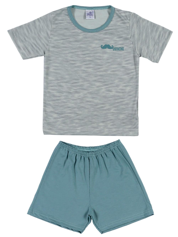 67cf474714af0a Pijama Curto Infantil Para Menino - Verde