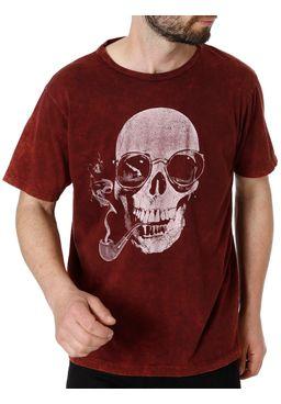 Camiseta-Manga-Curta-Masculina-No-Stress-Bordo