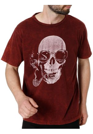Camiseta-Manga-Curta-Masculina-No-Stress-Bordo