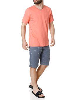 Camiseta-Manga-Curta-Masculina-Rovitex-Salmao-P