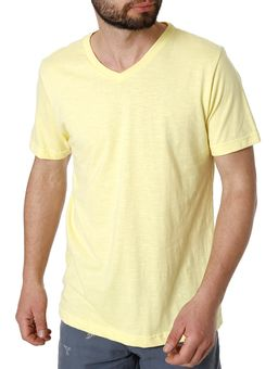 Camiseta-Manga-Curta-Masculina-Rovitex-Amarelo-P
