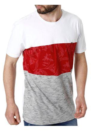 Camiseta-Manga-Curta-Masculina-Branco-vermelho-P