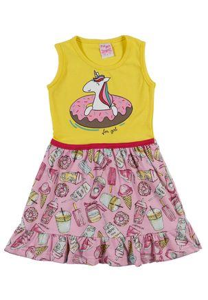 Vestido-Infantil-Para-Menina---Amarelo-rosa-1