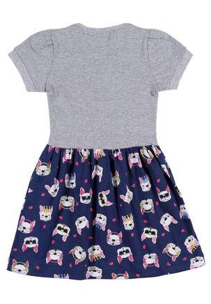 Vestido-Infantil-Para-Menina---Cinza-azul-Marinho-1