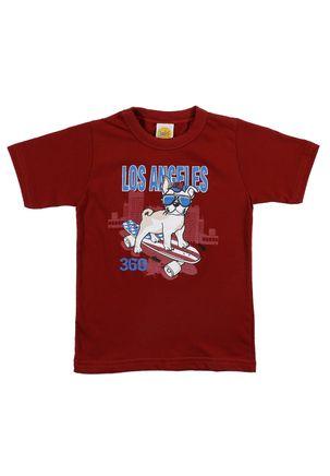 Camiseta-Manga-Curta-Infantil-Para-Menino---Bordo-1
