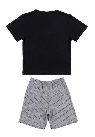 Pijama-Curto-Juvenil-Para-Menino---Preto-cinza-6
