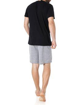 Pijama-Curto-Masculino-Preto-cinza