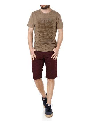 Camiseta-Manga-Curta-Masculina-Dixie-Bege