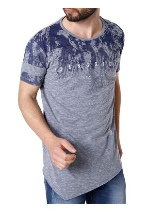 Camiseta-Manga-Curta-Masculino-Gangster-Azul